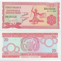 Бурунди 20 франков 2007 год.
