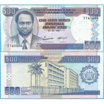 Бурунди 500 франков 1995 год.