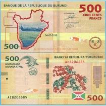 Бурунди 500 франков 2018 год.