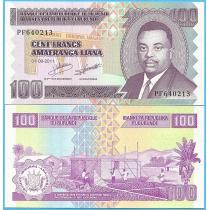 Бурунди 100 франков 2011 год.