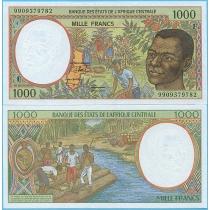 Центральная Африка 1000 франков 1999 год. F