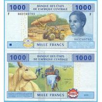Центральная Африка 1000 франков 2002 год.  Экваториальная Гвинея.