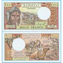 Джибути 1000 франков 1991 год.