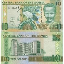 Гамбия 10 даласи 2012 год.