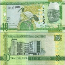 Гамбия 10 даласи 2015 год.
