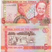 Гамбия 5 даласи 2013 год.