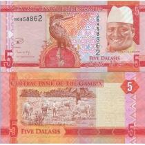 Гамбия 5 даласи 2015 год.