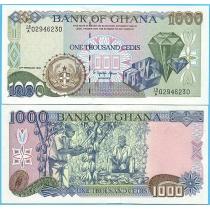 Гана 1000 седи 1996 год. Дробный нумератор.