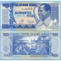 Гвинея-Бисау 500 песо 1990 год.