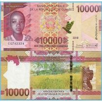 Гвинея 10.000 франков 2018 год.