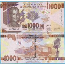 Гвинея 1000 франков 2017 год.