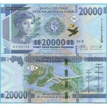 Гвинея 20.000 франков 2018 год.