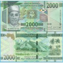 Гвинея 2000 франков 2018 год.
