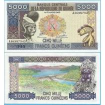 Гвинея 5000 франков 1985 год.