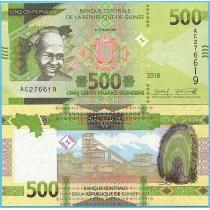 Гвинея 500 франков 2018 год