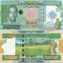 Гвинея 10000 франков 2010 г. Центральному банку 50 лет