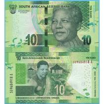 Южная Африка 10 рандов 2018 год. 100 лет со дня рождения Нельсона Манделы.