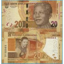 Южная Африка 20 рандов 2018 год. 100 лет со дня рождения Нельсона Манделы.
