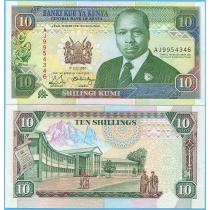 Кения 10 шиллингов 1990 год.