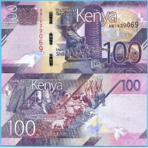 Кения 100 шиллингов 2019 год.