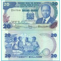 Кения 20 шиллингов 1981 год.