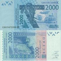 КФА Западная Африка 2000 франков 2003 г.