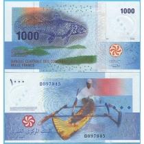 Коморские острова 1000 франков 2005 год.