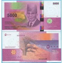 Коморские острова 5000 франков 2006 год.