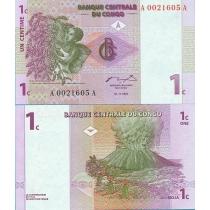 Конго 1 сантим 1997 год.