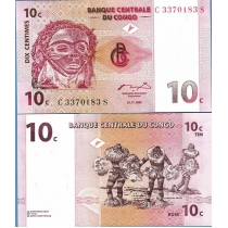 Конго 10 Сантим 1997 г.