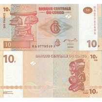 Конго 10 франков 2003 год.