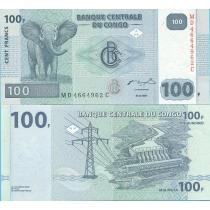 Конго 100 франков 2007 год.