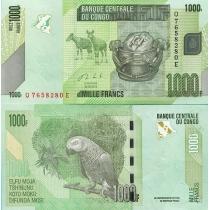 Конго 1000 франков 2013 год.
