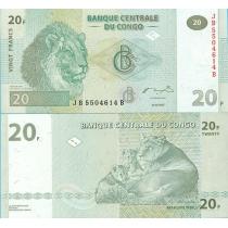 Конго 20 франков 2003 год.