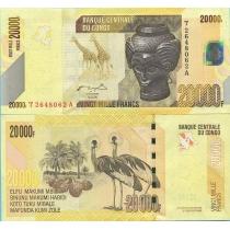Конго 20000 франков 2006 год.