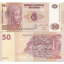 Конго 50 франков 2007 год.