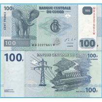 Конго 100 франков 2013 год.