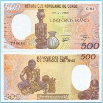 Конго 500 франков 1991 год.