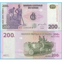 Конго 200 франков 2007 год.