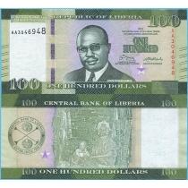 Либерия 100 долларов 2016 год.