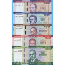 Либерия сет из 5 банкнот 2016 год.