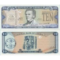 Либерия 10 долларов 2009 г.