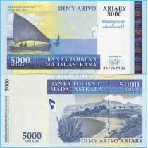 Мадагаскар 5000 ариари 2007 год. Юбилейная