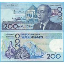 Марокко 200 дирхам 1991 год.