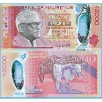 Маврикий 2000 рупий 2018 год.