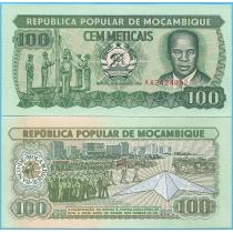 Мозамбик 100 метикал 1989 год.