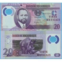 Мозамбик 20 метикал 2017 год.