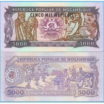 Мозамбик 5000 метикал 1989 год.