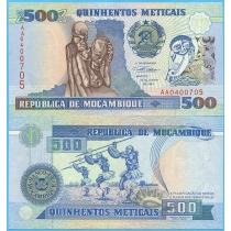 Мозамбик 500 метикал 1991 год.
