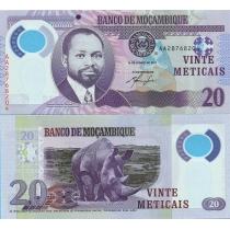 Мозамбик 20 метикал 2011 год.